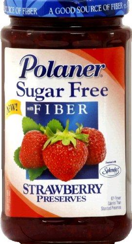 Polaner Sugar Free Strawberry Preserve, 13.5 Ounce - 12 per case. by Polaner