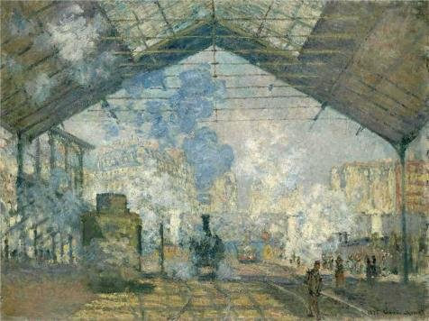 Oil Painting 'Saint-Lazare Station, Exterior View, 1877 By Claude Monet' 18 x 24 inch / 46 x 61 cm , on High Definition HD canvas prints is for Gifts And - Airport Dallas Open