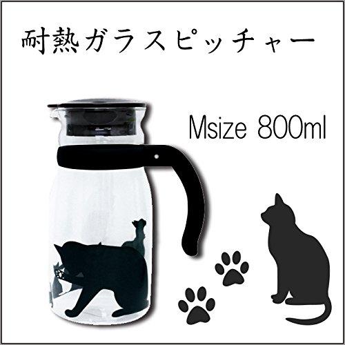 大西賢製販の耐熱ガラスピッチャー ネコ