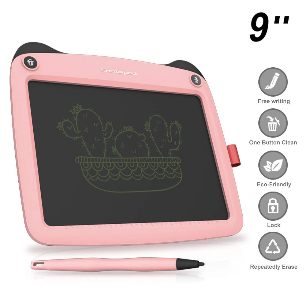 3D Hero LCD Writing Tablet for Kids - 9 Inch Writing and Drawing E-writing Tablet Board with 3 Stylus, Perfect Xmas gift for kids (Green)
