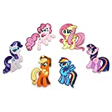 My Little Pony Iron on Patches for Kids Clothing (Little Pony Family)