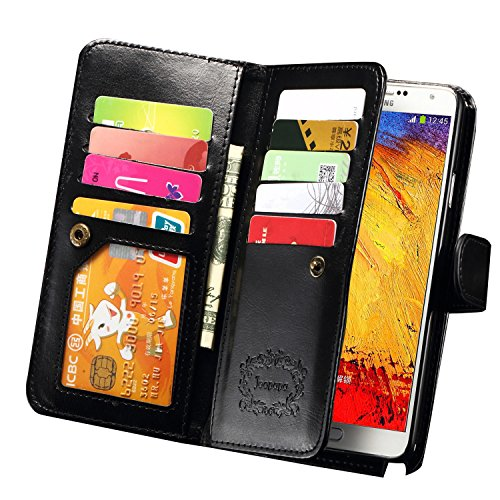 Note 3 Case, Galaxy Note 3 Case, Joopapa Note 3 Wallet Case,Pu Leather Case Magnet Wallet Credit Card (Phone Case Samsung Note 3)
