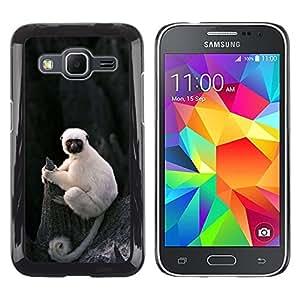 FlareStar Colour Printing Cute Little Monkey Ape Madagascar cáscara Funda Case Caso de plástico para Samsung Galaxy Core Prime / SM-G360