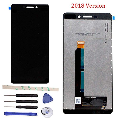 Nokia Touch Screen - LCD Display Touch Screen Digitizer Assembly Replacement For Nokia 6 II 2 2018/For Nokia 6 (6.1 2018) TA-1043 TA-1045 TA-1050 TA-1054 TA-1068 5.5