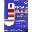 How to Play Jazz amp Improvise Vol 1 Book amp CD Jamey