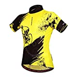 xl cycling jersey - WOSAWE Mens Breathable Cycling Jersey Short Sleeves (Biker Jersey, XL)