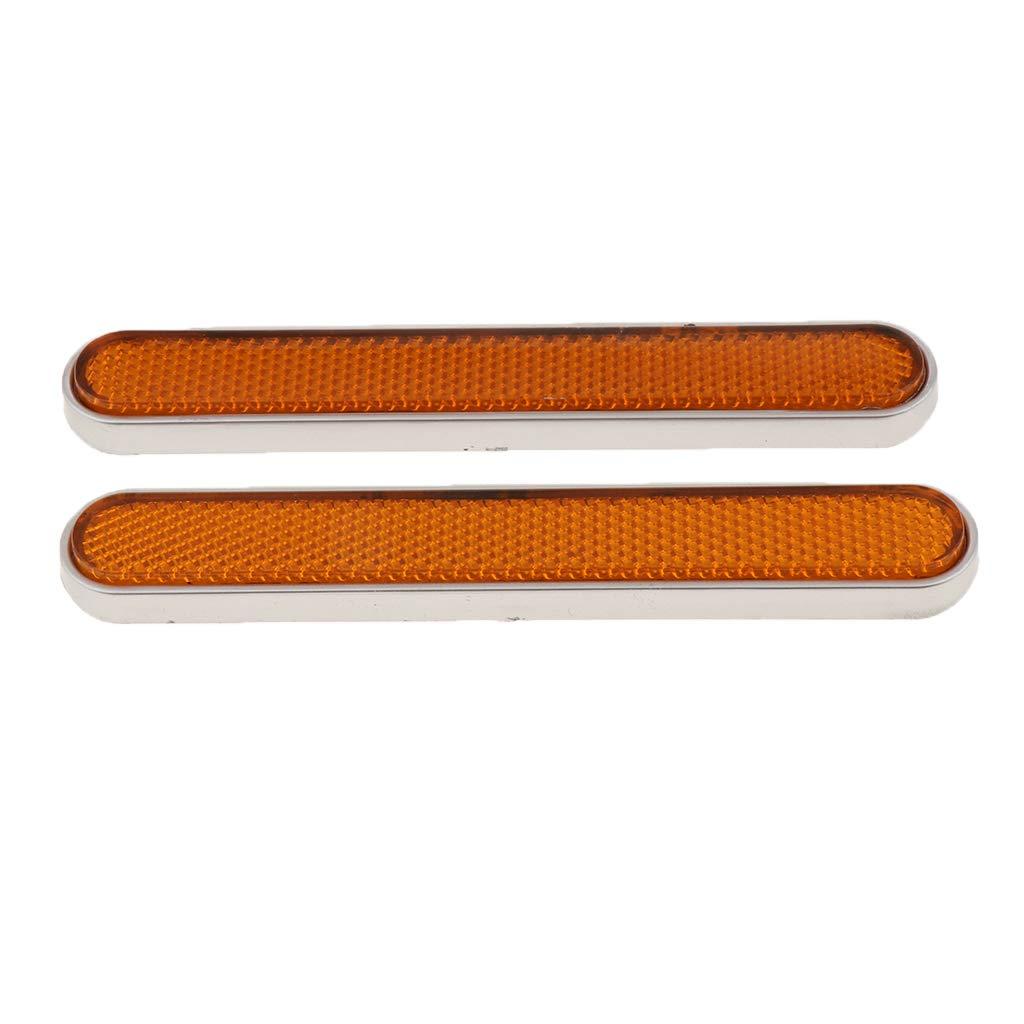 non-brand 4 Unids Impermeable Reflector Reflectante Catadioptrico Trasero//Pieza Reflexiva para Harle Sportster 883 1200