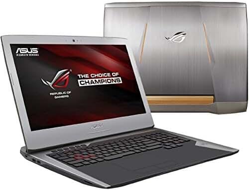 ASUS ROG G752 Gaming Notebook PC (i7-6700HQ, 32GB RAM, 256GB NVMe SSD + 1TB HDD, NVIDIA Geforce GTX 1060 6GB, 17.3