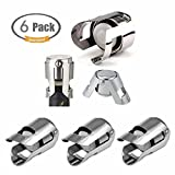 Champagne Bottle Stopper FUNJIA- Stainless steel Sparkling Wine Stopper/Cork/Plug, Keeps bubbly seal, and Effectiveness is Ideal gift (6-Pack)