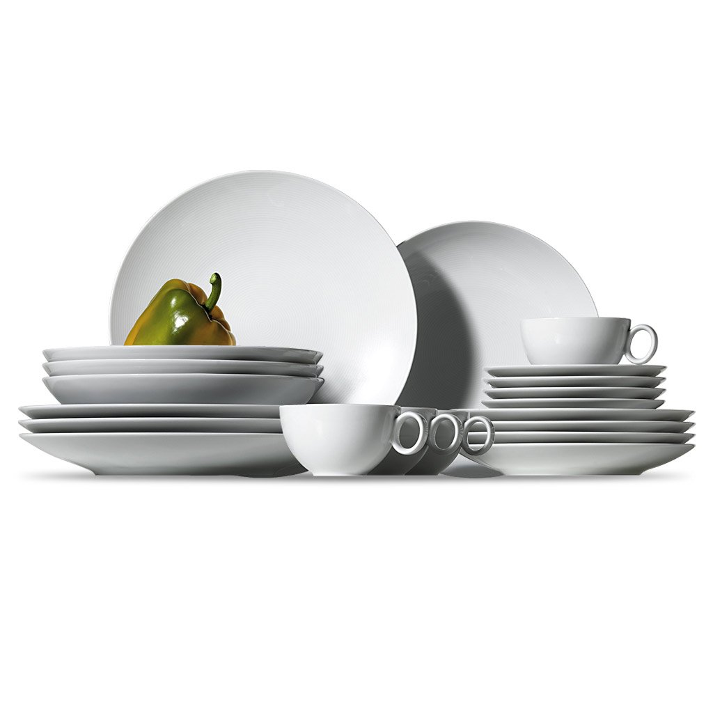 Thomas & Friends Loft 11900-800001-18844 20-Piece Starter Set 4 X Breakfast/ Flat/ Soup Plates And 4 X Tea Cups/ Saucers White Loft Weiss