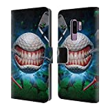 Official Tom Wood Golf Ball Monsters Leather Book Wallet Case Cover For Samsung Galaxy S9+ / S9 Plus