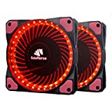 Asiahorse MIRAGE 32LED 120mm Cooling PC Compute custom Quiet case fan 2PACK(RED)
