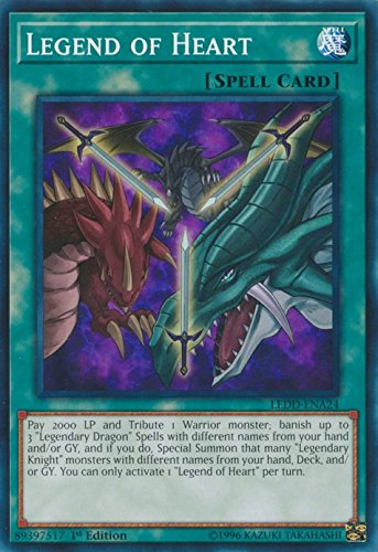 Heart Common Card (Legend of Heart - LEDD-ENA24 - Common - 1st Edition - Legendary Dragon Decks (1st Edition))