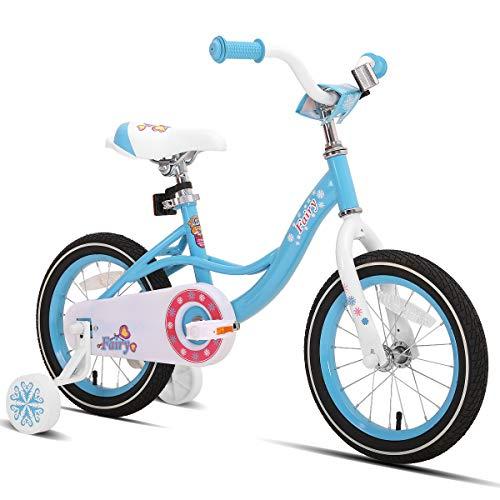 JOYSTAR 12 14 16 Inch Kids Bike with Training Wheels for 2-7 Years Old Girls 2'9