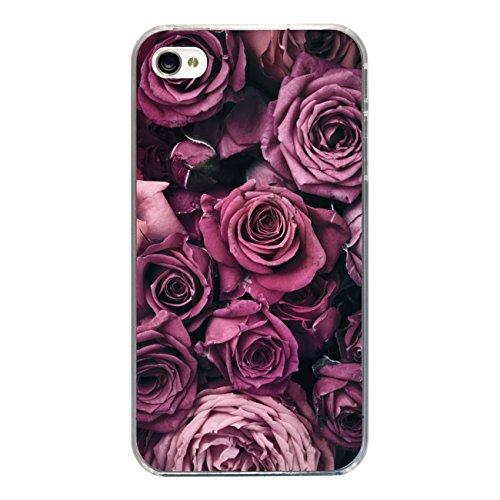 """Disagu Design Case Coque pour Apple iPhone 4s Housse etui coque pochette """"rosen"""""""