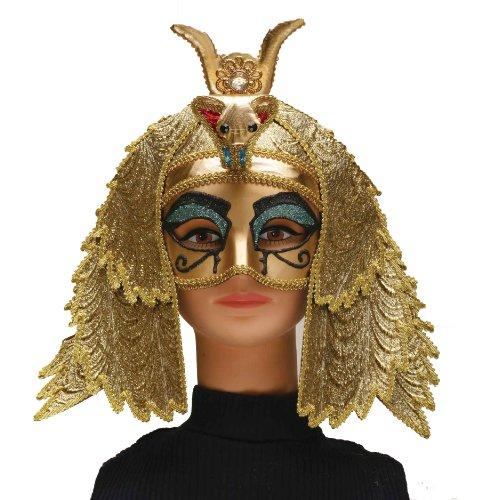 Forum Novelties Women's Egyptian Goddess Mask Costume Accessory, Gold, One Size]()