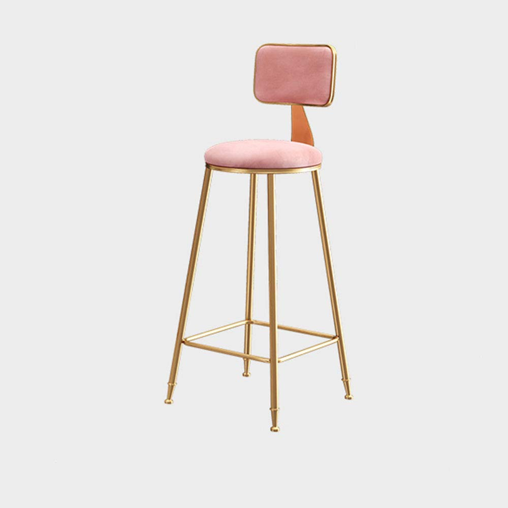 1 434565cm Bar Chair, Dining Chair Kitchen Wrought Iron Stool bar Stool high Stool Multi-color Optional HPLL (color   4, Size   43  45  45cm)