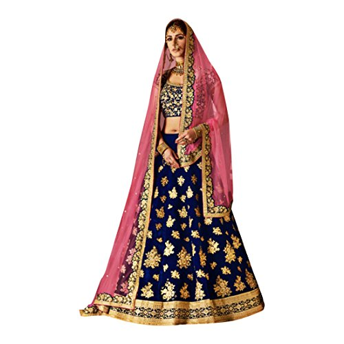Roter Samt schwere Stickerei Lehenga Choli Rock Top Offer Ready to ...