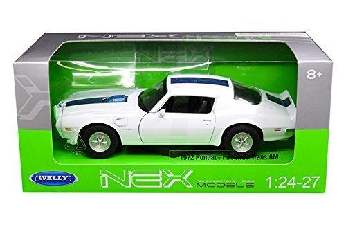 New 1:24 W/B WELLY COLLECTION - White 1972 Pontiac Firebird Trans AM Diecast Model Car By (Firebird Diecast Model Car)