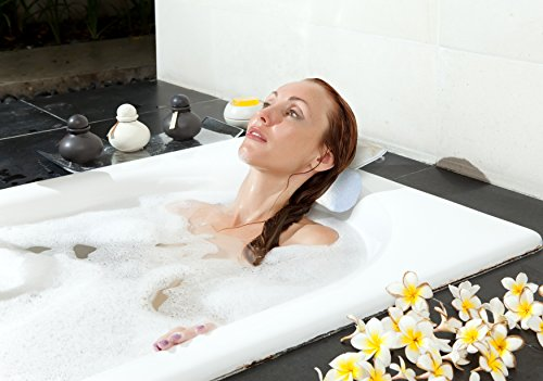 Luxury Bath Pillow for Bathtub with Ultimate Neck Support, Designed for Extreme Comfort, Non-Slip...