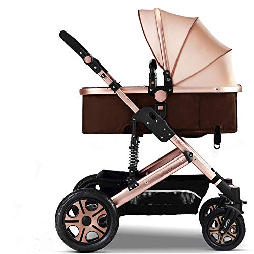 WY-Tong Prams Baby Pushchairs High Landscape Can Sit and Fold Two-Way Four-Wheel Shock Absorber Baby Strolle