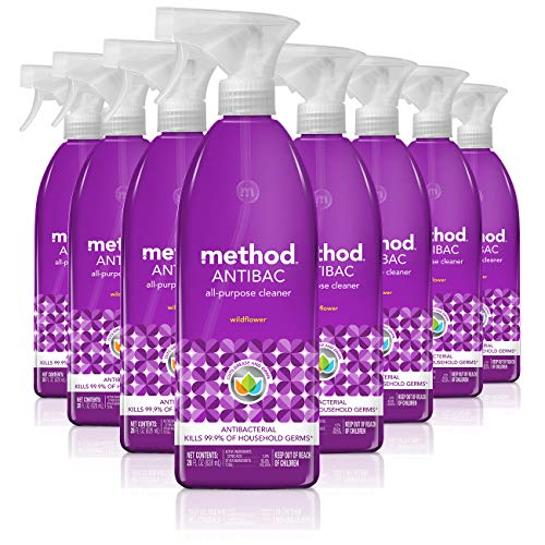 Method Antibacterial All Purpose Cleaner, Wildflower, 28 Ounce (Pack 8)