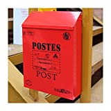 classical villa mailbox Pastoral retro wall letter box Waterproof outdoor Thicker Post mailbox with lock