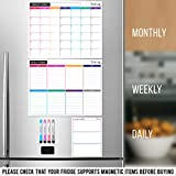 STYLIO Dry Erase Calendar Whiteboard. Set of 3