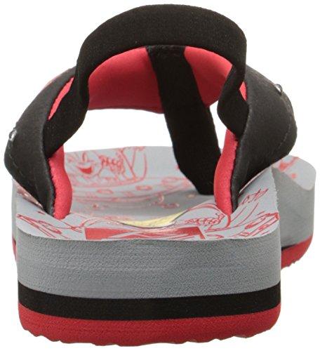 Reef Ahi Light Up Prints Sandal (Infant/Toddler/Little Kid/Big Kid) Grey/Red