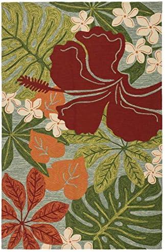 Jaipur Living Luau Indoor/ Outdoor Floral Leaves Green Area Rug 7'6″ X 9'6″