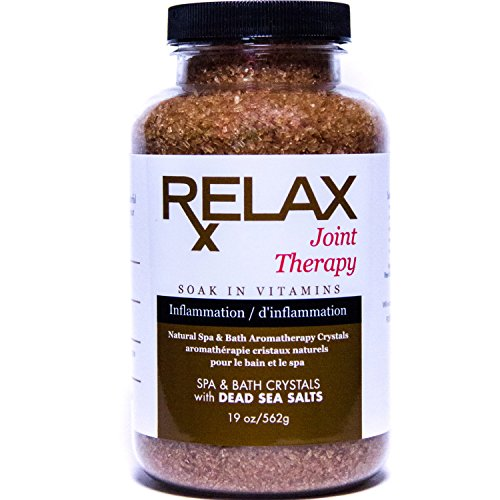 Joint Aromatherapy Best Bath Salts, 19 Ounce Bottle, Therapeutic, Joint Recovery Natural Salts and Minerals to Relax Aches, Pains, and Inflammation, Safe for Spa, Bath, and Whirpool ()