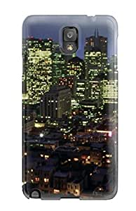 High Quality Shock Absorbing Case For Galaxy Note 3-city Skyline