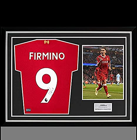 meet 8c2bd ac9b0 Roberto Firmino Back Autographed Signed Liverpool 2017-18 ...