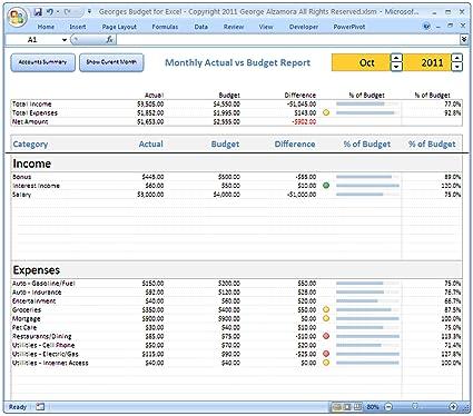 Amazon.com: Excel Budget Software and Checkbook Register ...