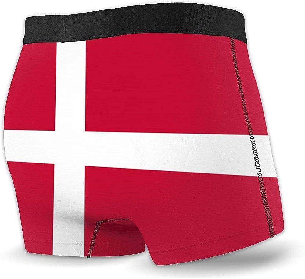 Web--ster Calzoncillos bóxer de Rendimiento Deportivo para Hombre, Ropa Interior con Bandera de Dinamarca: Amazon.es: Ropa y accesorios