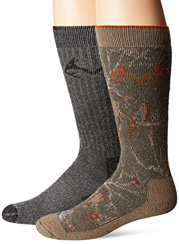 Realtree Men's Camo Wool Blend Socks, Taupe, Large ()