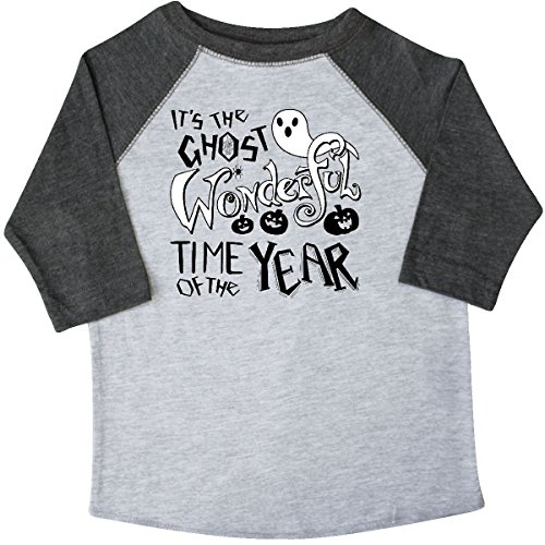 inktastic It's The Ghost Wonderful Toddler T-Shirt 4T 3/4 Sleeve Heather (Top 3 Halloween Songs)
