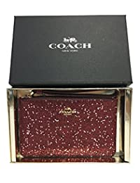 Coach Boxed Star Glitter Corner Zip Wristlet