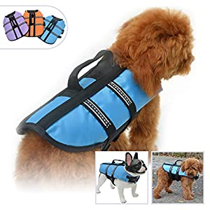 Lovelonglong Pet Clothing Dog Lifejacket Life Jackets for Large Medium Small Dogs Swimming Safe Boating Coat Dog Swim Protect Outwear 44