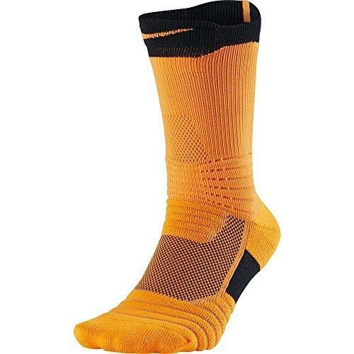 Nike Elite Versatility Crew Basketball Socks (Large, Vivid Orange/Black/Vivid - Black Socks Orange Nike