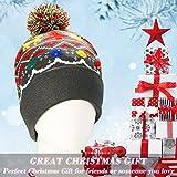 LNKK LED Light Up Christmas Beanie Hat LED Light