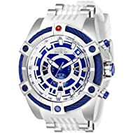 Men's 'Star Wars' Quartz Stainless Steel and Silicone Watch, Color:White (Model: 27232)
