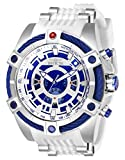 Invicta Men's 'Star Wars' Quartz Stainless Steel and Silicone Watch, Color:White (Model: 27232)