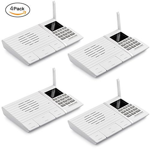 Samcom 20-Channel Digital FM Wireless Intercom System for Home and Office White Pack of 4 by SAMCOM
