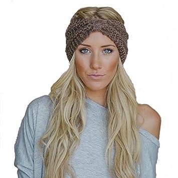Butterme Women Lady Girl Fashion Crochet Bow Turban Knit Knitted Headband  Headwrap Winter Ear Warmer Hair d7369d2223f4