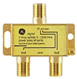 GE Digital 2-Way Coaxial Cable Splitter, 2.5 GHz