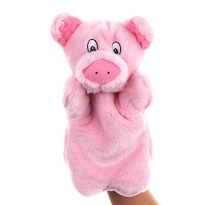 hbz11hl Gloves Cute Pig Animal Plush Doll Long Sleeve Hand Puppet Storytelling Parent Bed Time Stuffed Plush Toys Birthday Gift for Kids Thanksgiving Day Best for Gift for Girls and Boys: Pet Supplies