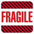 "Tape Logic DL1069 Shipping and Handling Label, Legend ""FRAGILE"", 4"" Length x 4"" Width, White on Red (Roll of 500)"