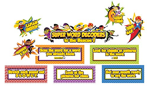 - Carson Dellosa Super Power Decoding Words Mini Bulletin Board Set (110316)