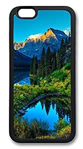iPhone 6 Cases, Hdr Mountains Lake Durable Soft Slim TPU Case Cover for iPhone 6 4.7 inch Screen (Does NOT fit iPhone 5 5S 5C 4 4s or iPhone 6 Plus 5.5 inch screen) - TPU Black
